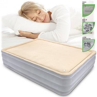 Двуспальная надувная кровать Bestway 67486 FoamTop Comfort Raised Airbed + насос (203х152х46см)