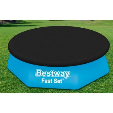 Тент для бассейнов с надувным бортом Bestway 58032 Fast Set 244 см (d 280 см)