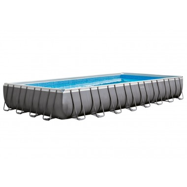 Каркасный бассейн Intex 26374 Rectangular Ultra Frame Pool (975х488х132см) + аксессуары