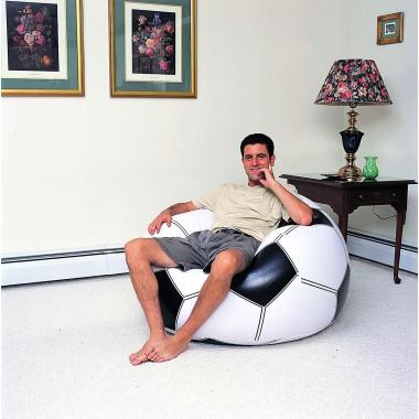 Надувное кресло Bestway 75010 Beanless Soccer Ball Chair (114х112х71см)