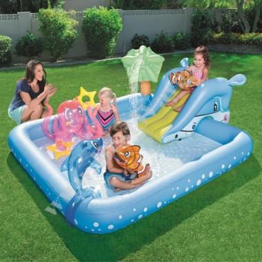 Игровой центр бассейн с горкой и фонтанов BestWay 53052 АкваПарк 2+