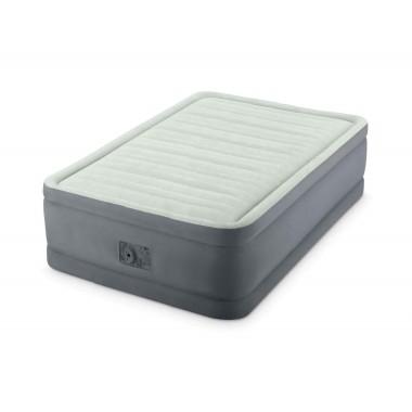Односпальная надувная кровать Intex 64482 PremAire Bed + насос (99x191x46см)