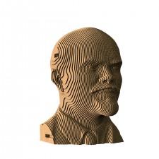 Большой сборный картонный бюст Ленин