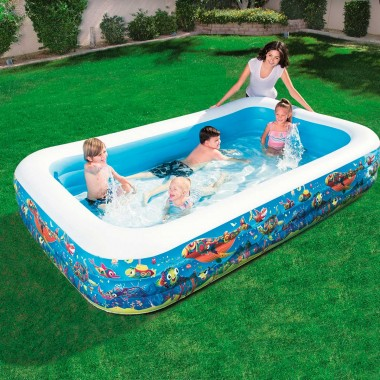 Надувной бассейн Bestway 54121 Happy Flora Подсолнух (305х183х56см)