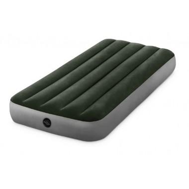 Одноместный надувной матрас Intex 64107 Prestige Downy AirBed (99х191х25см)