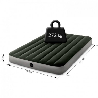 Полуторный надувной матрас Intex 64108 Prestige Downy AirBed (137х191х25см)