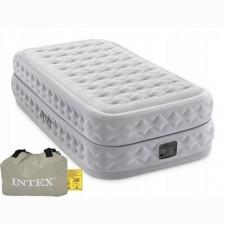 Односпальная надувная кровать Intex 64488 PremAire + насос (99х191х51см)