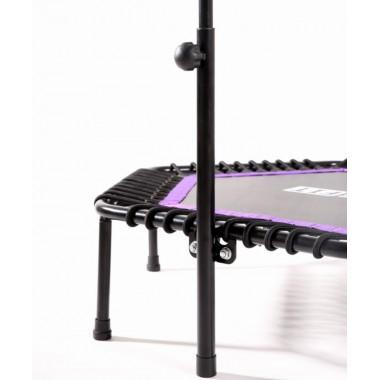 Батут BASEFIT TR-401 122 см с держателем, фиолетовый