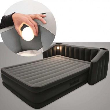 Двуспальная надувная кровать Bestway 67620 Fullsleep Wingback + насос (233х196х80см)