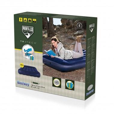 Односпальный надувной матрас Bestway 67680 Tritech Airbed (188x99x30cм)
