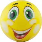 Мяч детский Funny Faces арт.DS-PP 205 12 см, желтый