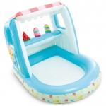 Надувной детский бассейн Intex 48672 + 3 игрушки (127х102х39см) 2-6лет