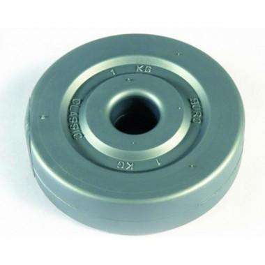 Диск для штанги виниловый d-26 мм 1 кг
