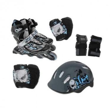 Роликовые коньки Action PW-117C + защита, шлем р.30-33