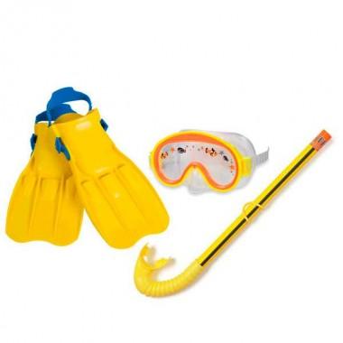 Набор для плавания Intex 55954 (маска, трубка, ласты) 3+