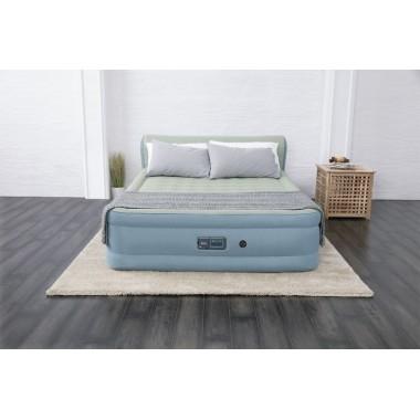 Двуспальная надувная кровать Bestway 69060 Fortech Airbed + насос (229x152x79cм)