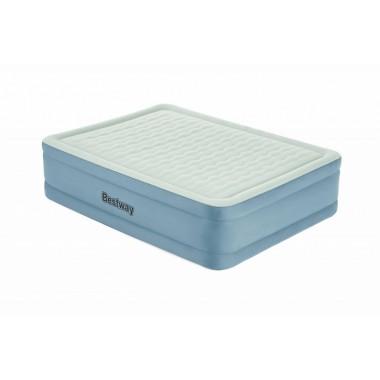 Двуспальная надувная кровать Bestway 69058 Fortech Airbed + насос (203x152x51cм)