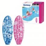 Надувная доска для плавания с ручками Bestway 42046 (114х46см) 2 вида уп.24