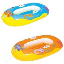 Лодочка для плавания надувная Bestway 34009 (137х89см) 3-6 лет, 2 вида, уп.12