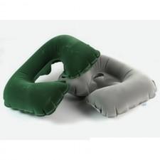 Подушка надувная для шеи флокированная Bestway 67006 (37х24х10) , 2 цвета