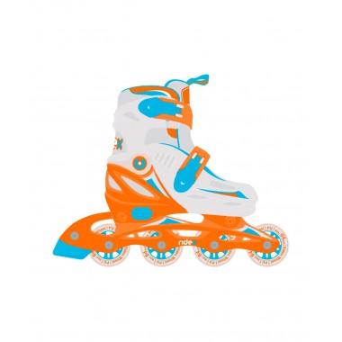 Ролики раздвижные Ridex Cricket Orange р.L (39-42)