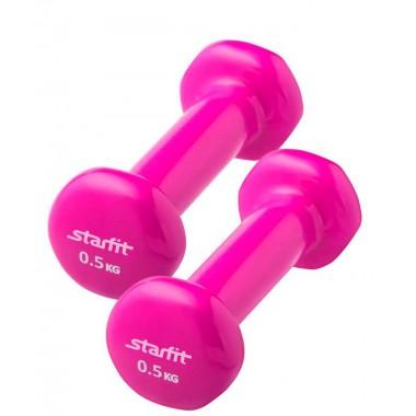 Гантель виниловая (2 шт) StarFit DB-101 0,5 кг, розовый