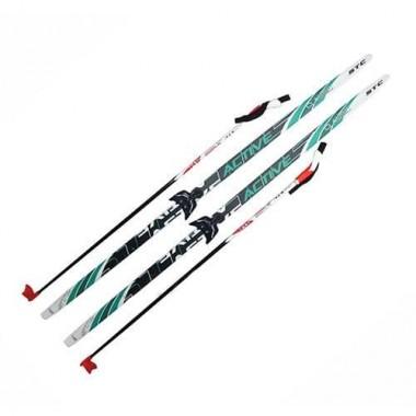 Лыжный комплект (лыжи+палки+крепл.75 мм) длина 160