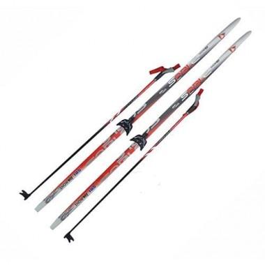 Лыжный комплект (лыжи+палки+крепл.75 мм) длина 190