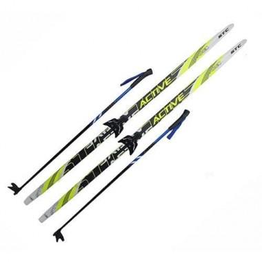 Лыжный комплект (лыжи+палки+крепл.75 мм) длина 200
