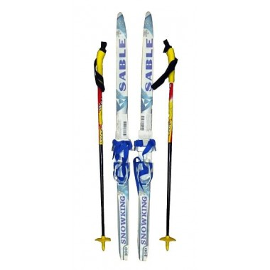 Детский лыжный комплект Sable (лыжи+палки+комбин.крепл.) длина 110