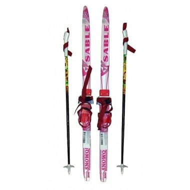 Детский лыжный комплект STC (лыжи+палки+комбин.крепл.) длина 140
