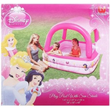 Бассейн Bestway 91057 надувной с тентом от солнца Disney Princess 147х147х122 см, 265 л