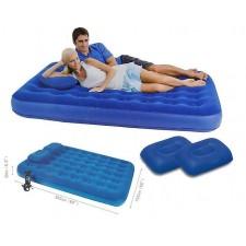 Двуспальный надувной матрас Bestway 67374 (203х152х22см) + насос + 2 подушки