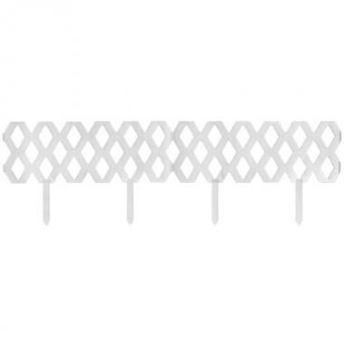 Клумба-забор 3х секционный цвет белый К3301