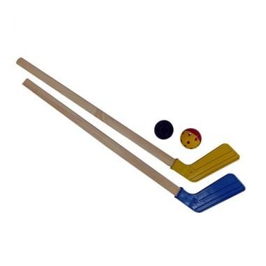 Хоккейный набор (2 клюшки + шайба + мячик) арт. 05-04