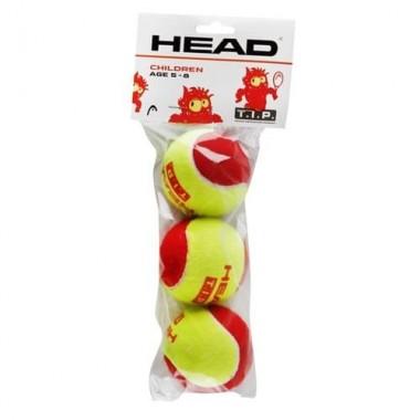 Мяч теннисный HEAD T.I.P Red арт.578213/578113 уп.3 шт