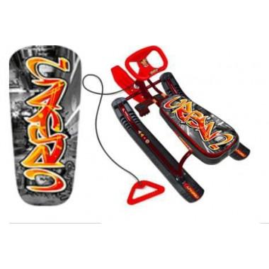 Детский снегокат Тимка Спорт 1 (граффити красный)