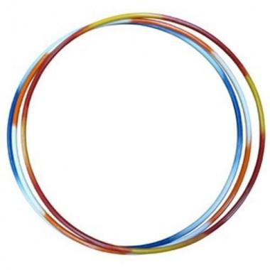 Обруч стальной гимнастический d 900мм утяжеленный (труба 16 мм) 1,3кг двухцветные